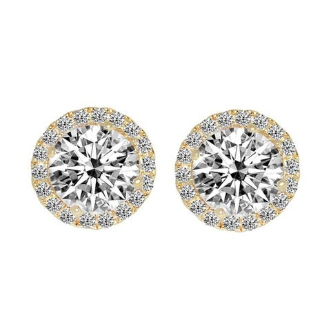 1f35d58f9 Buy Yellow Cubic Zirconia Earrings Online at Overstock