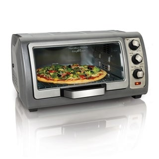 Hamilton Beach Easy Reach 6 Slice Toaster Oven with Roll-Top Door