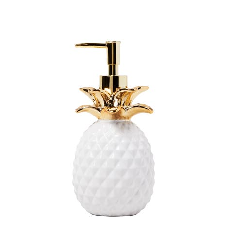 SKL Home Gilded Pineapple Lotion Dispenser