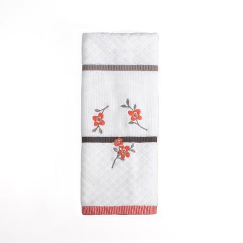 SKL Home Coral Gardens Hand Towel in Ivory