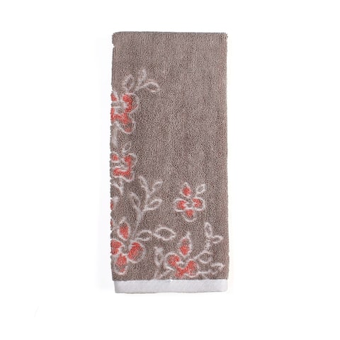 SKL Home Coral Gardens Hand Towel in Taupe