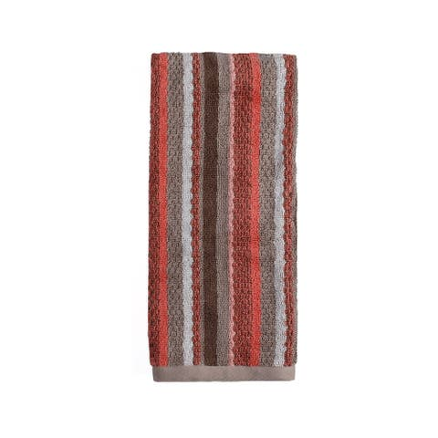 SKL Home Coral Gardens Stripe Hand Towel in Coral