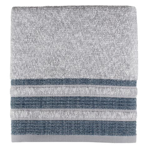 SKL Home Cubes Stripe Hand Towel in Navy