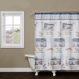 SKL Home Bass Lake Shower Curtain