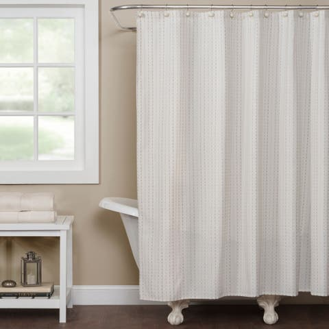 SKL Home Hopscotch Shower Curtain in Cream