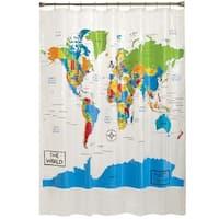 SKL Home World Map Shower Curtain