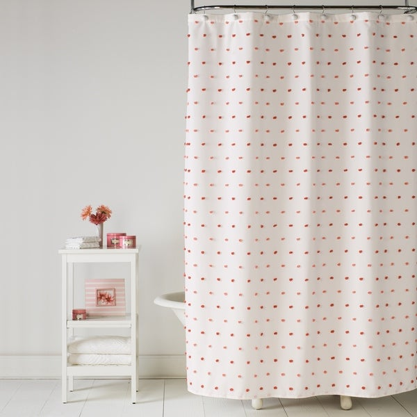SKL Home Colorful Dot Shower Curtain in Pink