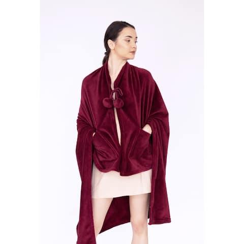 Chic Home Denali Robe Ultra Plush Fleece Wearable Blanket