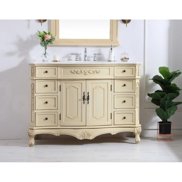 48 in. Single Bathroom Vanity set in light antique beige