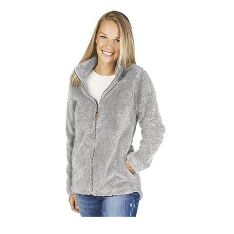 Charles River Newport Full Zip Fleece Jacket, Grey