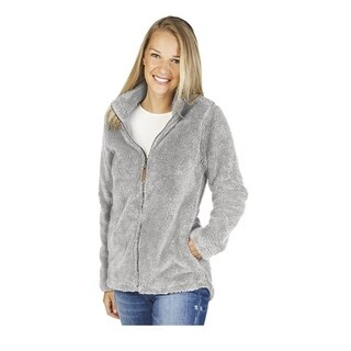 Charles River Newport Full Zip Fleece Jacket, Grey