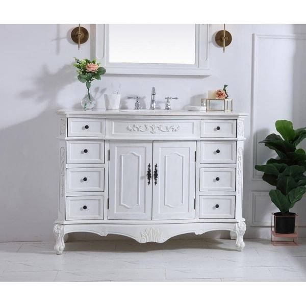 Shop Antique White 48-inch Single Bathroom Vanity Set