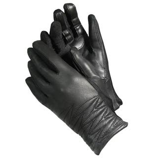 Isotoner A40272 Women's Lined Leather SmarTouch Touchscreen Gloves