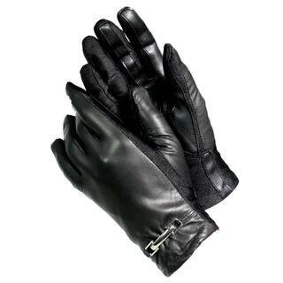 Isotoner A40268 Women's Lined Leather SmarTouch Touchscreen Gloves