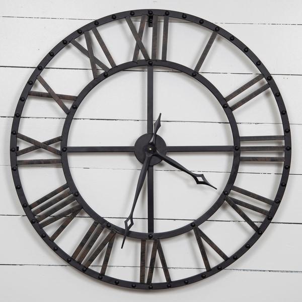 Gallery Solutions Oversized Black/Bronze Metal Wall Clock. Opens flyout.