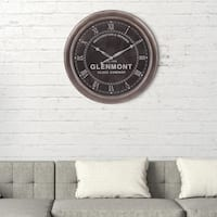 "24"" Glenmont Black Restoration and Repairs Antique Wall Clock"