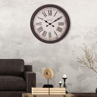 Patton Wall Decor 30 -inch Antique Bronze Baldaud Roman Numeral Wall Clock