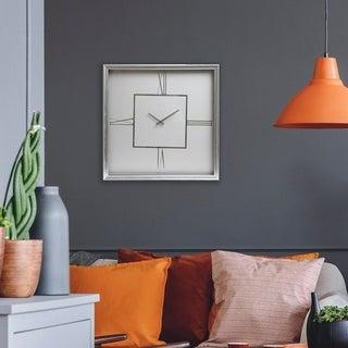 """Patton Wall Decor 24"""" Roman Numeral Square Wall Clock"""