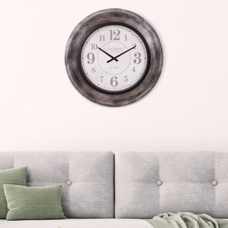 "Patton Wall Decor 23"" Glenmont Modern Slope Framed Wall Clock"