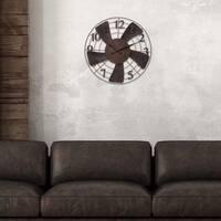"Patton Wall Decor 20"" Vintage Metal Fan Wall Clock"