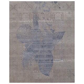 Handmade Mahi Tabriz Wool Rug (India) - 4'6 x 6'9