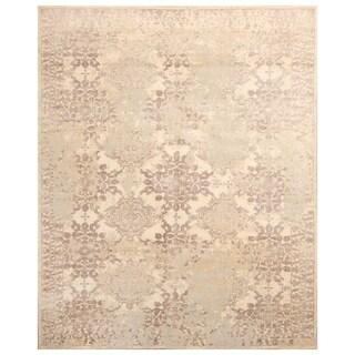 Handmade Herat Oriental Indo Hand-knotted Distressed Wool Rug (8'1 x 10'1)