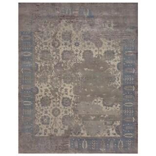 Handmade Mahi Tabriz Wool Rug (India) - 4' x 6'2