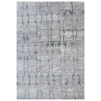 Handmade Herat Oriental Indo Hand-knotted Distressed Wool Rug (9'10 x 14') - 9'10 x 14'