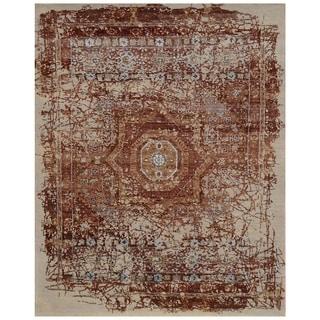 Handmade Mahi Tabriz Wool Rug (India) - 4'1 x 6'1