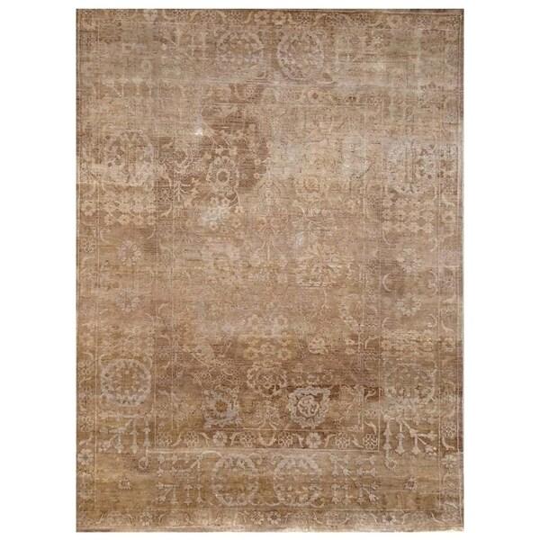 Handmade Mahi Tabriz Wool Rug (India) - 4' x 6'1