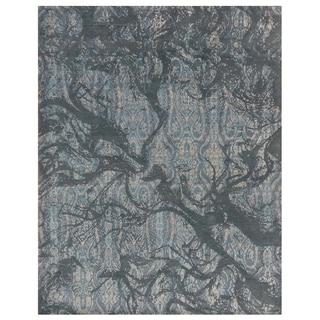 Handmade Mahi Tabriz Wool Rug (India) - 4'1 x 5'9