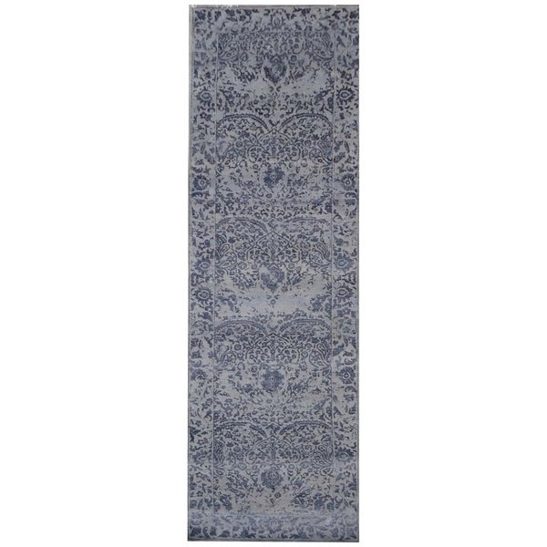 Shop Handmade Herat Oriental Indo Hand Knotted Distressed Wool Rug