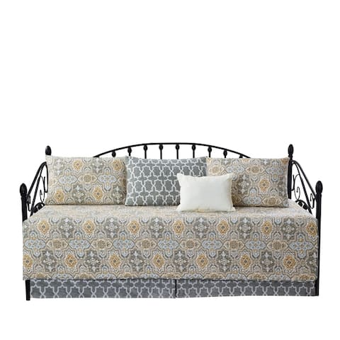 "Serenta 6 Piece Cotton Blend Daybed Bedspread Coverlet Set - 75"" x 39"""