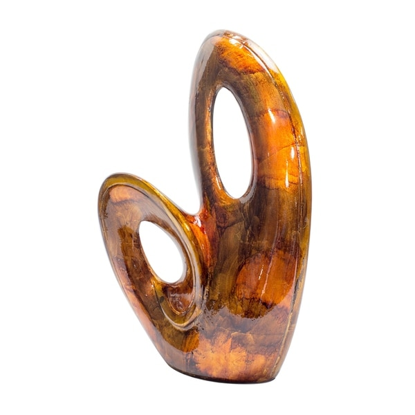 Tinsley 19.5 In. Foiled and Lacquered Decorative Sculpture