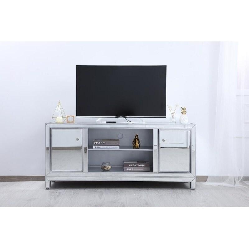 Indigo Home Antique Silver Mirrored Tv Stand