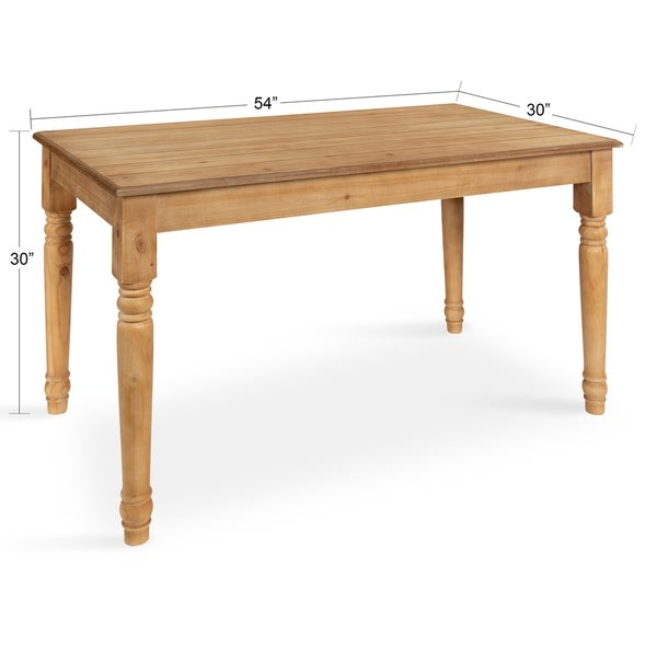 Kate and Laurel Cates Wood Farmhouse Dining Table - 54x30x30