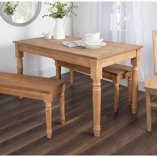 Kate and Laurel Cates Wood Farmhouse Dining Table - 54x30x30. Opens flyout.