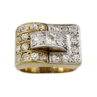 18 K Yellow Gold 2.75 CTW Antique French Cocktail Diamond Ring