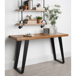 Kate and Laurel Lazlo Wood and Metal Console Table