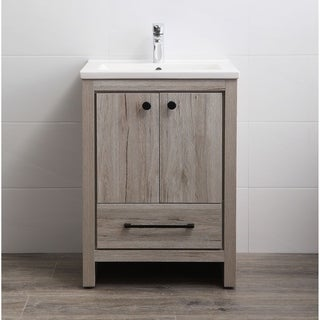 Legion Furniture WM8124 Oak Finish 24-inch Vanity without Faucet