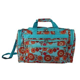 World Traveler Wildflowers 19-inch Lightweight Carry-On Duffle Bag