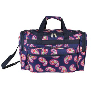 World Traveler Floral Paisley 19-inch Lightweight Carry-On Duffle Bag