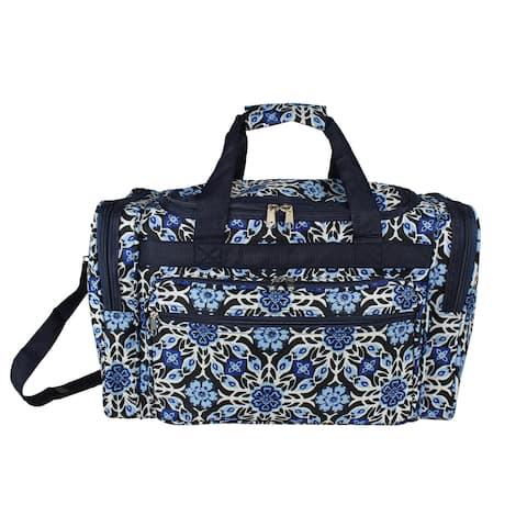 World Traveler Winter Flower 19-inch Lightweight Carry-On Duffle Bag