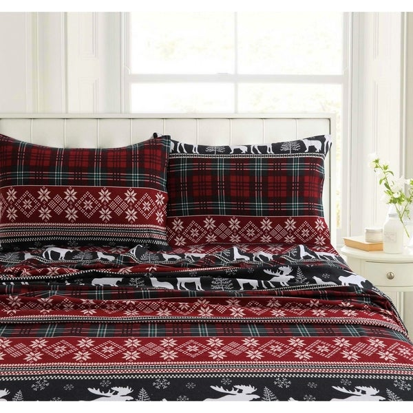 Flannel 200-GSM Solid or Printed Pillowcases Set of 2
