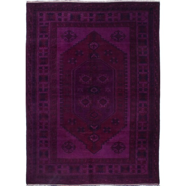 ECARPETGALLERY Hand-knotted Color Transition Indigo Wool Rug - 6'6 x 9'0