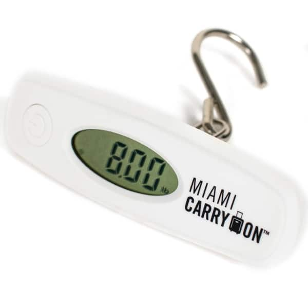 0f41c4296287 Shop Miami CarryOn Digital Hanging Luggage Scale - 110Lbs Hook ...
