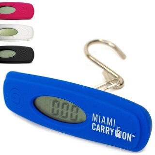 Miami CarryOn Digital Hanging Luggage Scale - 110Lbs Hook Travel Scale