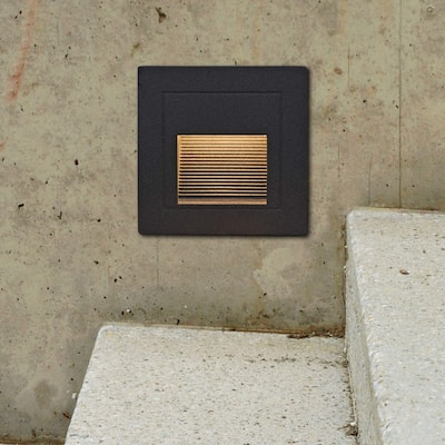 "VONN Lighting VOS54478BL 3.25"" Low-Voltage 1-Watt Integrated LED Outdoor Step Light"