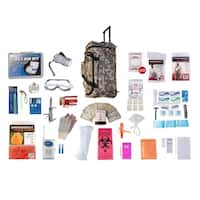 1 Person Elite Survival Kit (72 Hours) Camo Wheel Bag
