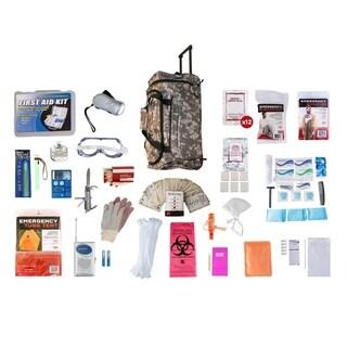 1 Person Elite Survival Kit (72 Hours) Camo Wheel Bag